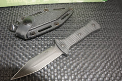 ZT Zero Tolerance 0150 Tactical Boot Knife Black DLC Plain Edge