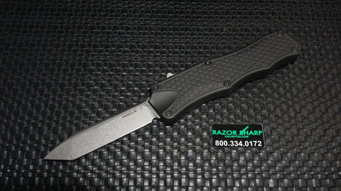 Hogue 34000 Knives Tanto OTF Automatic Knife Black Stonewash Plain
