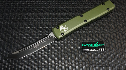 Microtech 123-1OD Contour OD Green Ultratech T/E OTF Automatic Knife Plain