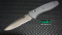 Benchmade 580S-2 Barrage AXIS-Assist Knife Gray G-10 Satin Serrated
