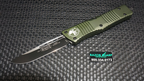 Microtech 143-1OD Green Combat Troodon S/E OTF Automatic Knife Black Plain