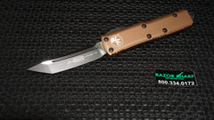Microtech 233-1TA UTX-85 Tan Tanto OTF Automatic Knife Tactical Black Plain