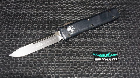 Microtech 121-1T Contoured Ultratech S/E OTF Automatic Knife Black Plain