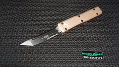 Microtech 123-2TA Tan Tanto Ultratech Automatic OTF Knife Black Serrated
