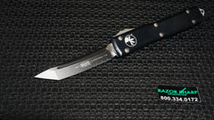 Microtech 123-2 Tanto Ultratech OTF Knife Automatic Black Serrated Edge