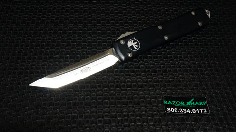 Microtech 123-4 Tanto Ultratech Automatic OTF Knife Satin Plain Edge