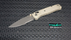 Benchmade 535SGRY-1 Bugout AXIS Lock Knife Ranger Green Gray Serrated