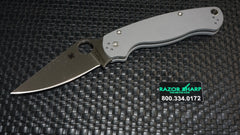Spyderco C81GPGY2 Paramilitary 2 Knife Sprint Gray G10 Satin CRU-WEAR