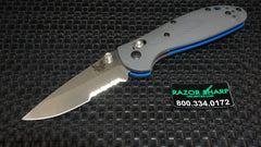 Benchmade 556S-1 Mini Griptilian AXIS Lock Knife Gray Satin Serrated Edge