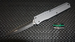 Microtech 242M-3GY Cypher Microtech D/E Full Serrated  OTF Automatic Knife Tactical