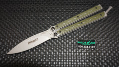 Bradley BCC901 Kimura Butterfly Balisong Spear Point Knife OD Green G-10 Plain