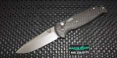 Benchmade 4300-1801 CLA Automatic Knife Black Carbon Fiber Satin Plain