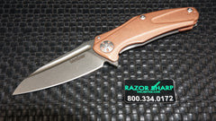 Kershaw 7008CU Copper Med-Natrix Sub-Frame Lock Knife D2 Stonewash Blade