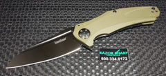 Kershaw 7008OLBLK XL Natrix A/O Sub-Frame Lock Knife OD Green G-10