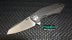 Zt Zero Tolerance 0456CF Flipper Knife Carbon Fiber Satin Plain Sprint Run