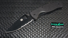 Spyderco C122GBBKPS Tenacious Folding Knife G-10 Black Serrated