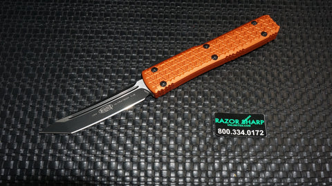 Microtech 123-1OR Ultratech OTF Tanto Automatic Knife Orange Black Tactical Plain