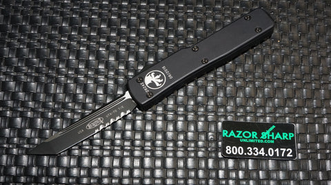 Microtech 149-2T UTX-70 T/E OTF Tanto Automatic Knife Black Serrated