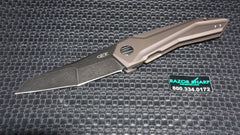 Zt Zero Tolerance GTC 0055BRZ Flipper Knife Titanium Blackwash Plain Edge