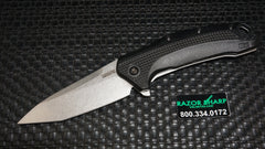 Kershaw 1776T Link Tanto Point Knife Black Aluminum Stonewash Plain Edge
