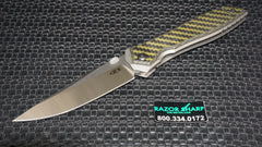 Zt Zero Tolerance 0640 Emerson Knife Black Carbon Fiber Satin Plain Edge