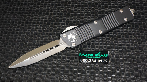 Microtech 138-4 Troodon OTF D/E Dagger Automatic Knife Satin Plain Edge