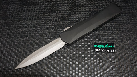 Heretic H032-5A Manticore Batttleworn D/E Dagger OTF Automatic Knife
