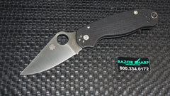 Spyderco C223GP Paramilitary 3 Compression Lock Knife Black Satin Plain