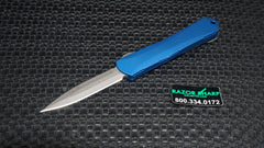 Heretic H024-5A-Blue Small Manticore Battleworn D/E Dagger OTF Automatic Knife