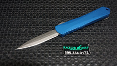 Heretic H024-2A-Blue Small Manticore Stonewash D/E Dagger Point OTF Automatic Knife