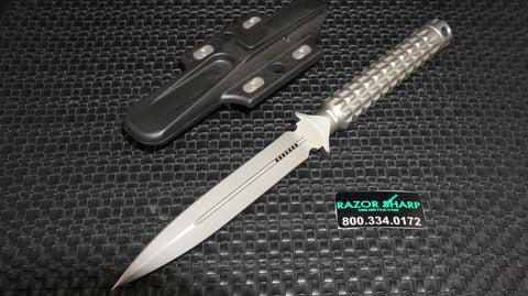 Microtech 115-7 A.D.O. Knife Fixed Blade Dagger Bead Blast Plain Edge