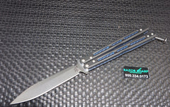 Benchmade 51 Morpho Balisong Butterfly Knife Black G-10 Satin Plain