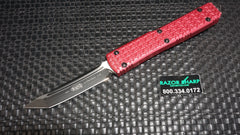 Microtech 123-1RD Red Ultratech Tri-Grip T/E OTF Auto Knife Black Plain USED