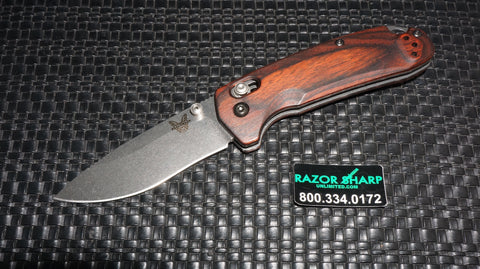 Benchmade 15031-2 North Fork AXIS Lock Hunt Knife Wood Folder
