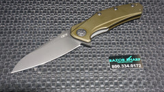 Zt Zero Tolerance 0770ODBLK OD Green Handle Black Plain Edge CPM-S35VN