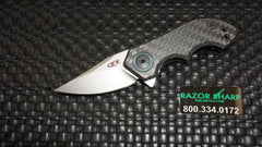 Zt Zero Tolerance 0022 Mini Galyean Frame Lock Knife CF Stonewash Plain