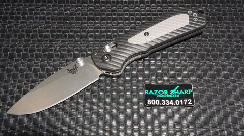 Benchmade 565 Mini Freek AXIS Lock Knife Black/Gray Satin Plain Edge