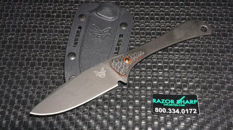 Benchmade 15200DLC Altitude Fixed Blade Knife Black DLC Plain Edge