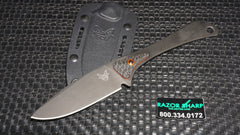 Benchmade 15200DLC Altitude Fixed Blade Knife Black Plain Edge