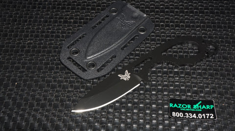 Benchmade 101BK Follow-Up Fixed Blade Knife Black Black Plain