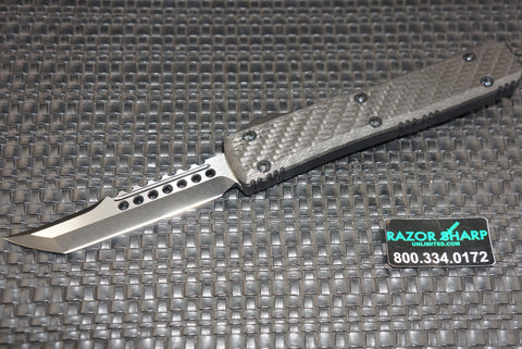 Microtech 119-1CF Ultratech DLC Hellhound Tanto OTF Automatic Knife
