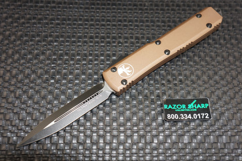 Microtech 122-1TCC D/E Tan Ultratech Automatic Knife OTF Black Plain