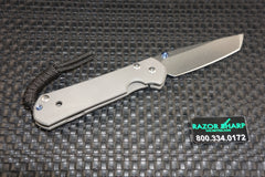 Chris Reeve Sebenza 21 Left Handed Small Tanto Stonewash Plain Edge