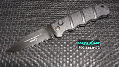 Boker KALS74BKS Kalashnikov Automatic Knife Black Drop Point Serrated