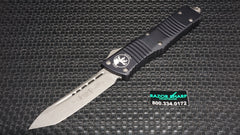 Microtech 144-10 Combat Troodon Tanto OTF Automatic Knife Stonewash Plain