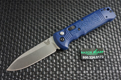 Benchmade 4400-1 Casbah Automatic Knife Blue Grivory Satin Plain Edge