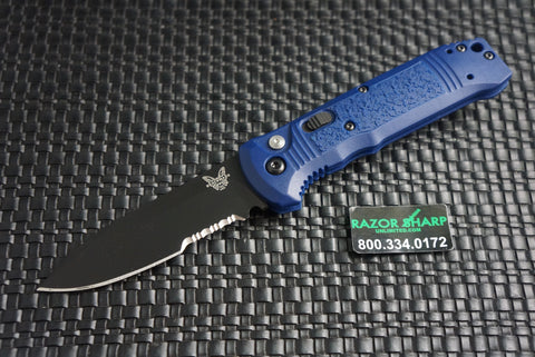 Benchmade 4400SBK-1 Casbah Automatic Knife Blue Grivory Black Serrated
