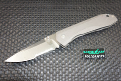 Benchmade Knife 761S Titanium Framelock Knife Satin Serrated Blade M390