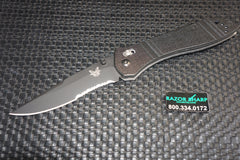 Benchmade 710SBKD2 McHenry & Williams AXIS Lock Knife Black Serrated