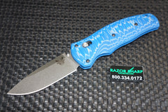 Benchmade 1000001-1601 Volli Blue G-10 Knife Axis Spring Assisted M-390
